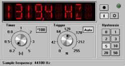 Screenshot programu Frequency counter
