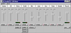 SB AudioPCI 128 Mixer