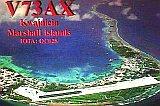 QSL V73AX z atolu Kwajlein