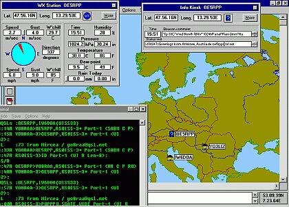 Screenshot APRS programu UI-View