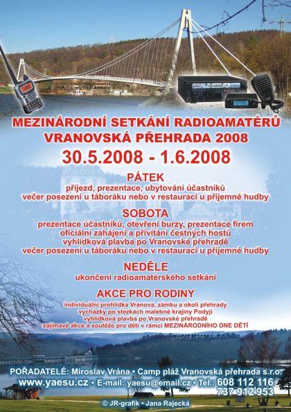 Leták Vranovská přehrada 2008