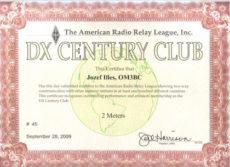 OM3BC získal DXCC!
