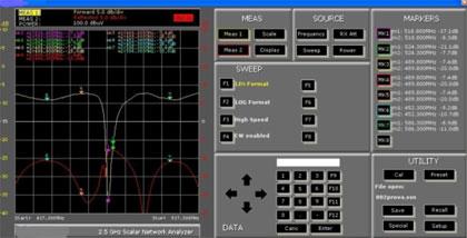 Screenshot z merania