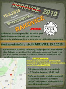 Stretnutie rádioamatérov Rakovice 2019 (Borovce)