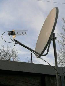 Helix feed s parabolou pre QO-100 satelit