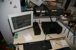 TCVR Icom s N1MM logom pre CQ WW contestom