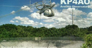 KP4AO QSL lístok