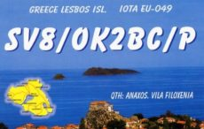 SV8/OK2BC/p, OK2BOB/p z ostrova Lesbos (Mytilini) EU-049