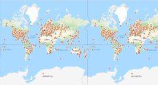 EME-Sender an 144 MHz, 432 MHz a 1296 MHz in der Welt