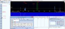 N1MM+ SDR panadaptér s so zobrazením značiek z logu a DX clustra