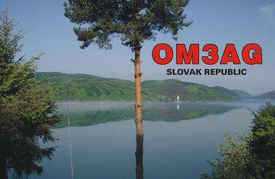 OM3AG QSL lístok