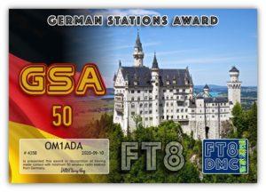 Diplom GSA 50 OM1ADA