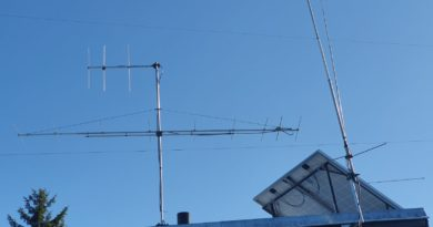 KV vertikál na yagi antény na 144 MHz