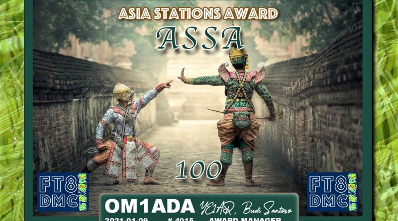 Asia Stations Award ASSA OM1ADA