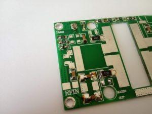 Circuiti di ingresso dell'amplificatore VHF MRF9180 / MRF186
