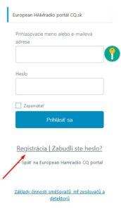 Registračný link